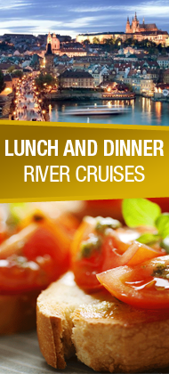 Lunch and dinner cruises in Prague